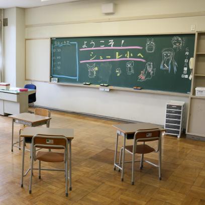 学年別の部屋です。朝と帰りはここに集まります。
